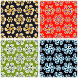 Flowers abstract background collection of vector illustration. (vector eps 10 Royalty Free Stock Photo