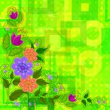 Flowers on Abstract Background Royalty Free Stock Photos
