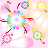 Flowers. Abstract background. Vector illustration. Abstract pattern Royalty Free Stock Photo