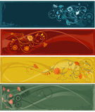 Flowers abstract banners royalty free illustration