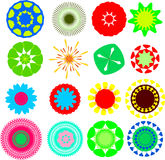 Flowers. Abstract cartoon colored flowers in the shape of mandala Stock Image