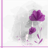Flowers. Abstract colorful background .with pink floral Royalty Free Stock Image