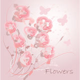 Flowers. Abstract colorful background .with pink floral Stock Photos