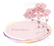 Flowers. Abstract colorful background .with pink Stock Images
