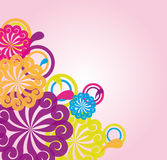 Flowers abstract  illustration Royalty Free Stock Photography