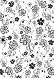 Flowers Abstract Pattern Royalty Free Stock Photography