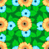 Flowers-02. Abstract pattern of flowers, seamless background Stock Photography
