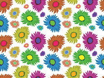 Flowers abstract seamless pattern stock photos