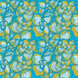 Flowers abstract seamless pattern Royalty Free Stock Image