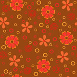 Flowers abstract seamless texture. Royalty Free Stock Image