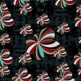 Flowers abstract seamless vector background pattern Royalty Free Stock Photo