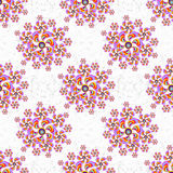 Flowers abstract seamless vector pattern grunge effect on a light background Royalty Free Stock Photos
