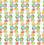 Flowers, Abstract Vector Seamless Pattern. Royalty Free Stock Image