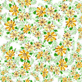 Flowers. Abstract wallpaper with floral motifs.  Seamless pattern. Wallpaper. Use printed materials, signs, posters, postcards, packaging stock illustration