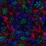 Flowers. Abstract wallpaper with floral motifs. Seamless pattern. Wallpaper. Use printed materials, signs, posters, postcards, packaging royalty free illustration