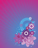 Flowers on abstraction background Stock Image