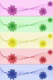 Flowers abstraction banner Royalty Free Stock Photos