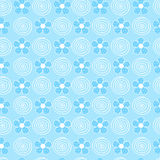 Flowers adn Swirls Seamless Repeat Pattern Stock Image