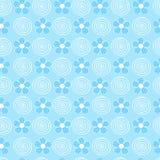 Flowers adn Swirls Seamless Repeat Pattern. Tile-able Flowers and Swirls Seamless Repeat Pattern Vector Illustration royalty free illustration