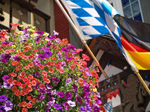 Flowers Adorning the Streets of Leavenworth Royalty Free Stock Images