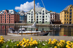 Flowers of Alesund Stock Photography
