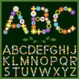 Flowers alphabet Stock Photos