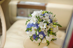 Flowers on Armrest Royalty Free Stock Photo