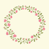 Flowers arranged in a shape of the wreath Stock Photo