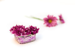 Flowers arrangement. With crystals isolated Stock Photos