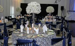 decorated wedding tables  Stock Image