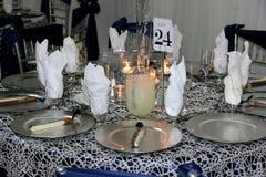 wedding table arrangement Stock Images
