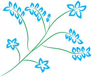 Flowers art. Flower vector very good to make a good job Royalty Free Stock Photography