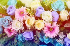 Flowers. Artificial flowers for the backdrop wedding Royalty Free Stock Photos