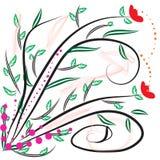 Flowers arts background Stock Image