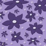 Flowers background. Pastel scattered flowers background illustration Stock Image