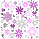 Flowers background. Illustration of flower texture on white background Royalty Free Stock Photos