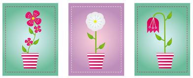Flowers with background Royalty Free Stock Photo