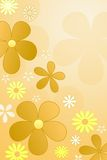 Flowers background. Colour  flowers background in yellow, brown and orange colours Royalty Free Stock Photography