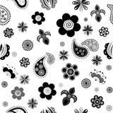 Flowers_background黑色 免版税图库摄影