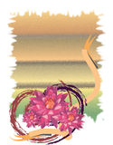 Flowers background. Post card royalty free illustration