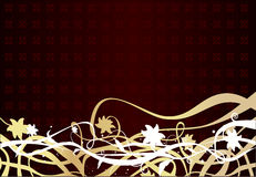 Flowers background. Vector gold elegance flowers background Stock Photos