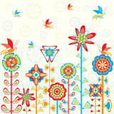 Flowers background for children Stock Image