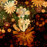 Flowers background design Royalty Free Stock Photo