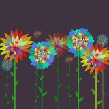 Flowers on a background. Graphic illustration design Royalty Free Stock Photo