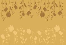Flowers_background_horizontal dentellare fotografia stock libera da diritti