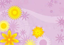 Flowers Background (illustrati. Abstract Flowers Background (vector or XXL jpeg image Royalty Free Stock Image