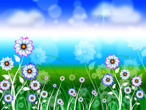 Flowers Background Means Blossoms Petals And Blooming Stock Images