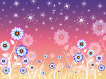 Flowers Background Means Growing Flowering And Nature Royalty Free Stock Photography