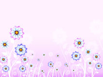 Flowers Background Means Spring Bloom And Nature Royalty Free Stock Photos