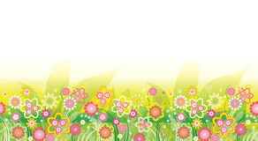 Flowers_background_pattern Stock Image